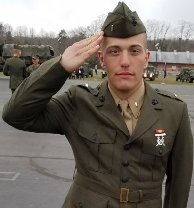 Karaffa graduates college, commissioned into U S  Marine